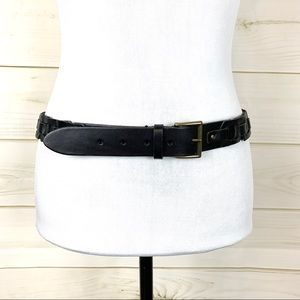 Talbots Leather woven belt